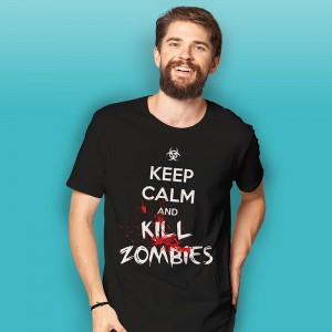 Keep Calm and Kill Zombies - koszulka męska