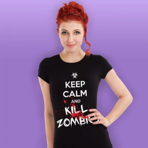 Keep Calm and Kill Zombies - koszulka damska