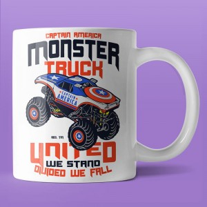 Captain America Monster Truck - kubek